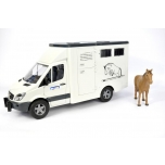 Bruder #02533 MB SPRINTER Animal TRANSPORTER With 1 Horse