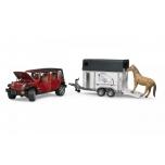 Jeep Wrangler +treiler hobusega