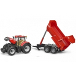 Игрушка Bruder трактор Case Optum 300CVX с прицепом Krampe Halfpipe 03199