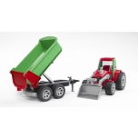 Bruder 20116 ROADMAX Tractor with Front Loader/Rear Tipper