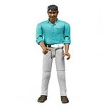 "Bruder 60003 ""Man-Medium Skin and White Jeans Figure"
