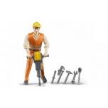 Inimfiguur, ehitustööline tööriistadega