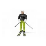 60040 BRUDER Man Skier With Accessories