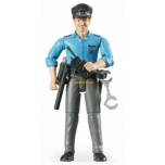 Bruder 60050  Policeman Light Skin Toy Figure with Accessories