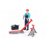 Bruder Bworld Man with Repair Shop Accessories