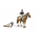 BRUDER #62505 Riding Set With Woman and Horse