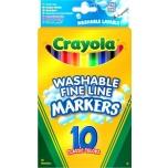 Детские фломастеры Crayola10 цветов