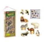 Деревянные магнитные животные 20 штук
