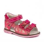 Tüdrukute sandaalid naturaalsest nahast Roosa