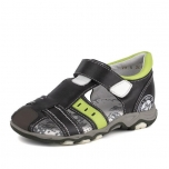 Leather Shoes for Boys Grey
