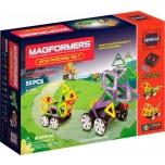 """Магнитный конструктор Magformers """"Zoo Racing Set"""" 55деталей"""