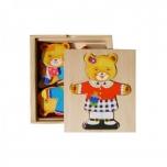Brimarex Wooden Teddy Bear Single Puzzle