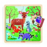 Wooden puzzle - Forest (16 pcs.)