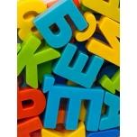 Магнитные цифры и русские буквы пластмассовые