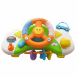 Kids driving toy steering wheel play with music Smily play