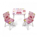 Lastemööbli komplekt Laud ja 2 tooli PEPPA PIG