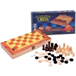 Game set 3in1: Chess, Checkers, Backgammon