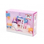 Dollhouse Furniture/Sugarplum children's room 17 pcs.
