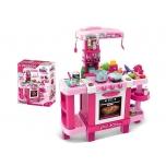 Детская кухня с посудой,светом и звуком Розовая  (87 см)