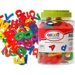 MAGNETIC letters Numbers COLORFUL ALPHABET 80pcs.