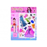 Magnetic clothes for dolls and dresses