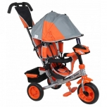 Tricycle Lux Trike with functional desk Grey-Orange