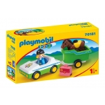 PLAYMOBIL 1.2.3.Car with horse trailer