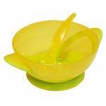 Тарелочка с присоской и ложечка для кормления (BPA free)