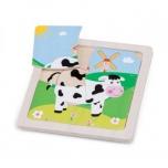 New Classic Toys-Деревянный пазл для малышей Корова
