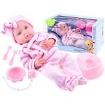 Beautiful baby doll, newborn baby potty