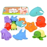 Rubber sea animals set