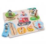 New Classic Toys - Puidust pusle käenuppudega Tuletõrjujad