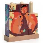 Деревянные кубики-пазлы Лес