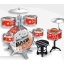 Play On 7 Piece Plastic Drum Set Red