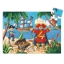 Silhouette puzzle - The pirate and his treasure - 36 pcs