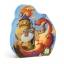 Silhouette puzzles - Vaillant et le dragon - 54 pcs