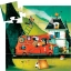 Silhouette puzzles - 16pcs - The fire truck - 16pcs