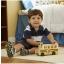 Wooden school bus with 7 play figures