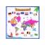 Maailma kaart inglise keeles värvimiseks 50x50cm