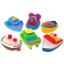 Set of 6 rubber boats ships bath