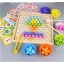 Beaded memory game two-in-one