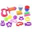 Пластилиновая масса с формочками и машинкой для выдавливания