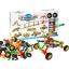 Konstruktor plastmassist Molekulid+Rattad,62 osa